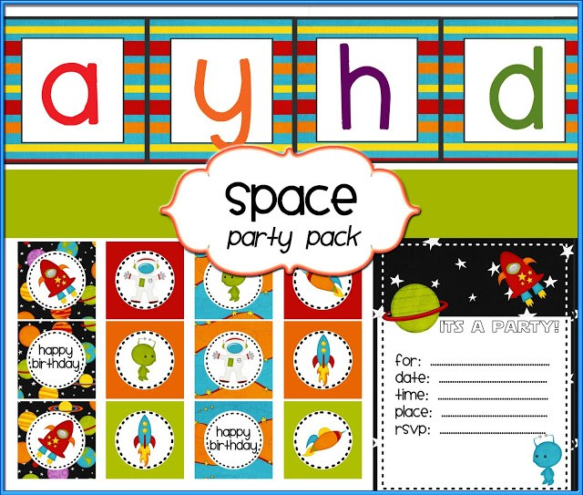 Outer Space Party invite