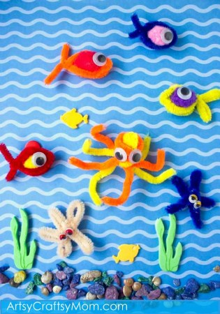 Simple Pipe Cleaner Fishing Game