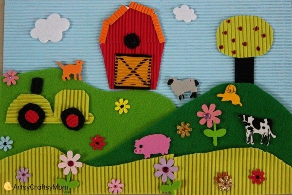 Life on the Farm - Thematic Collage for kids 014
