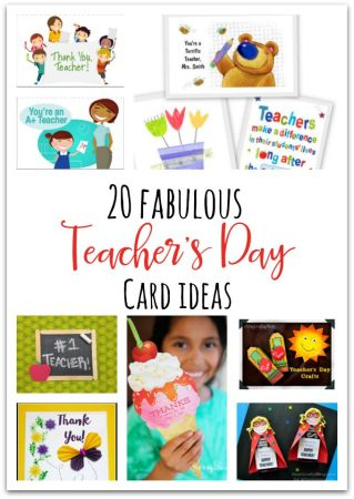 20 Awesome Teachers' Day card Ideas with Free Printables!