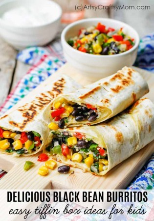 DELICIOUS BLACK AND RED BEAN BURRITOS