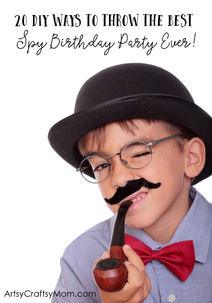 Click through for 20 DIY Ways To Throw The Best Spy Agent Birthday Party Ever - Decor,   Game Ideas for your kids, Themed party food ideas & more