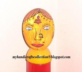 tribal face & krishna painting