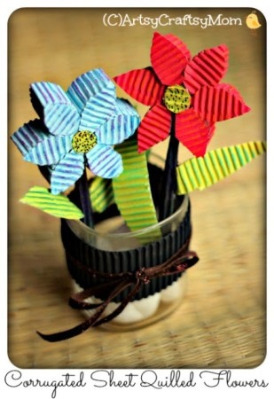 3D Corrugated Paper Quilling Flowers – Video Tutorial