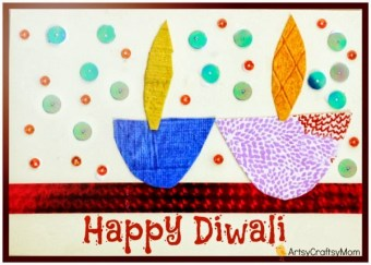 Diwali Handmade card for kids to make