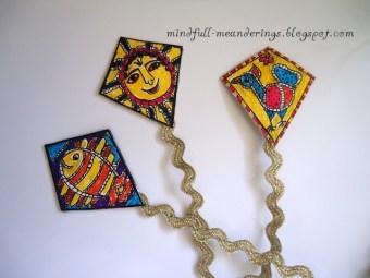 madhubanji kite bookmarks for kids to make