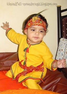 Krishna costume for kids