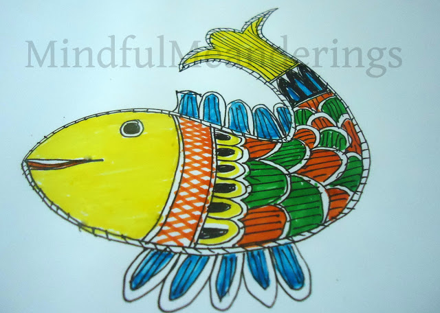 Painting A Simple Madhubani Fish In 12 Steps Artsy Craftsy Mom