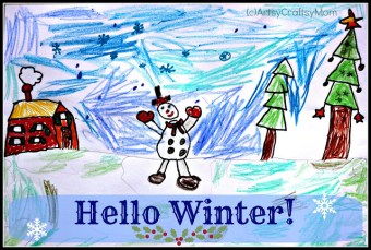 Hello Winter – A drawing by Lil P