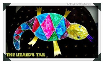 Mixed up chameleon – Crafting with Aluminium Foil