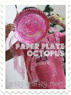 Paper Plate Bubble Wrap Octopus