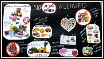 Say no to Junk Food Poster for school
