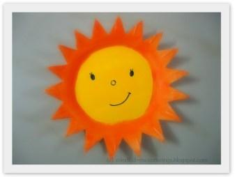 Thermocol Styrofoam Plate Sun