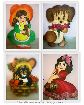Thermocol Sheet Crafts - Kids room decor