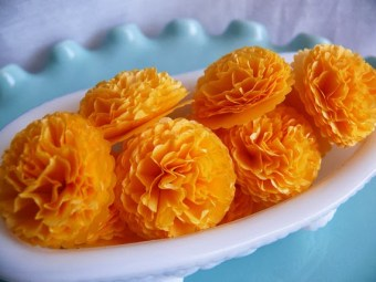 DIY Paper Marigold Flowers for Dussehra and Diwali