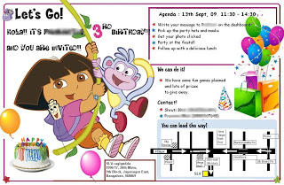 The Dora Theme party :)