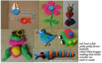 play doh crafts - animals birds - sculpting with kids