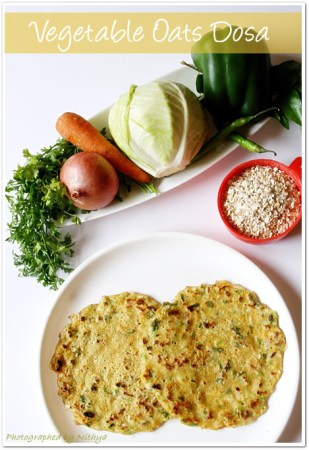 Yummy-Tummy-Wednesday- Vegetable Oats Pancakes/ Dosa