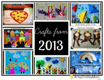 Crafts of 2013 from ArtsyCraftsyMom