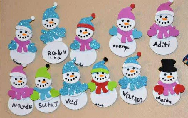 Snowman name tags