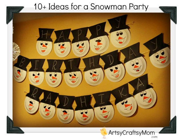 Snowman-theme-birthday-party