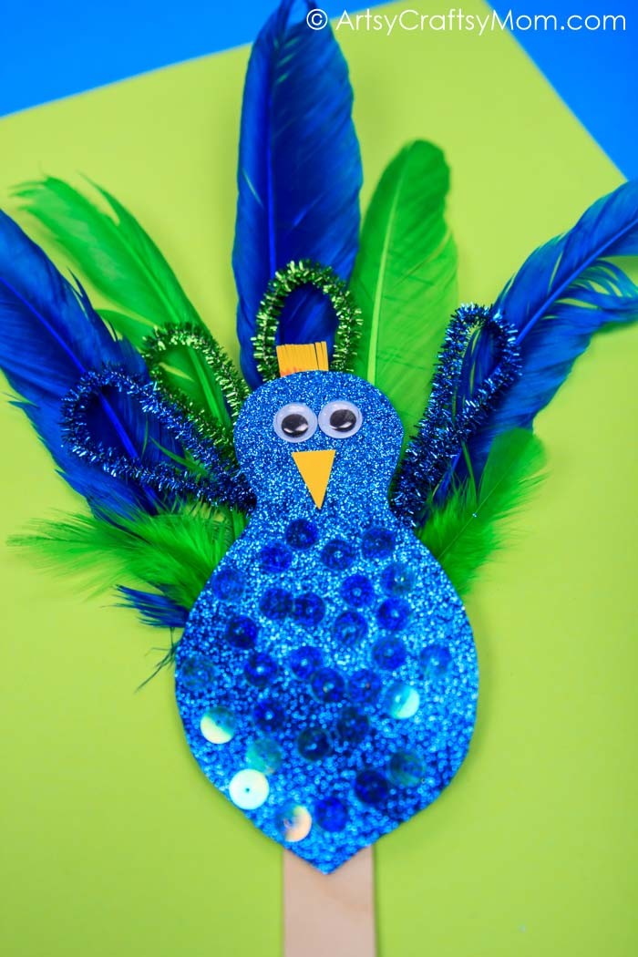 Pipecleaner Feather Peacock Craft Artsy Craftsy Mom
