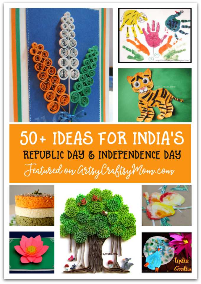 50+ Ideas for India Independence Day Party, August 15th - craft, Books, recipes & national symbol craft - Tiger, lotus, mango, banyan tree, peacock crafts