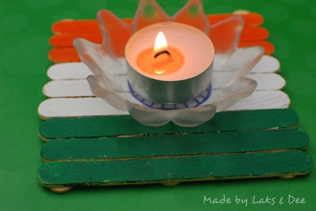 50 Ideas for India Republic Day or Independence Day party - Flag coaster
