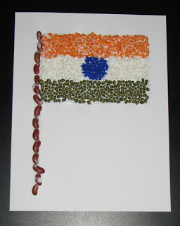 50 Ideas for India Republic Day or Independence Day party - flag with pulses