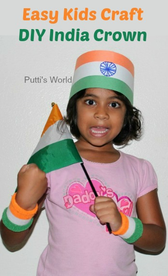 India Crown - Easy Kids Craft For Independence