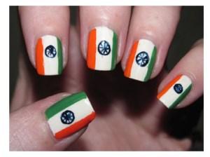 Tricolour-nail-art