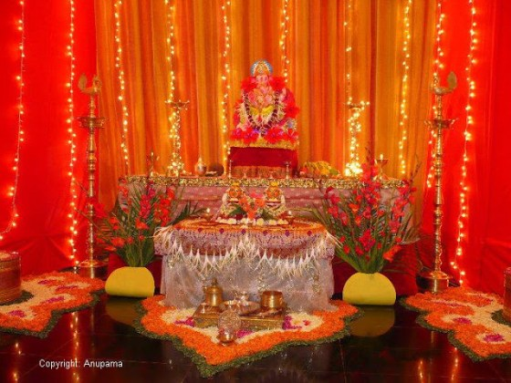 idea for ganesh decoration at home path decorations pictures