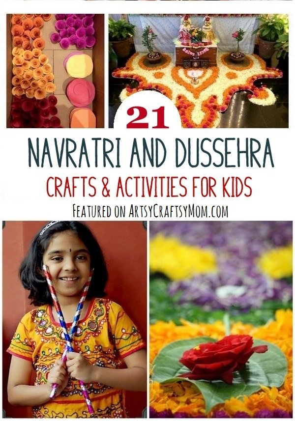 21 Navratri Dussehra Activities & Crafts for kids