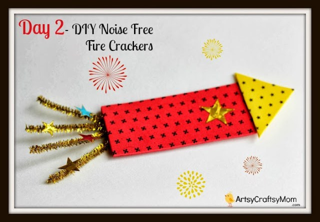 Dussehra Navratri Foam Cracker craft - 21 Navratri Dussehra Activities and Crafts to get your child involved in the festivities- crafts, puppets and activities that are both fun and educational.