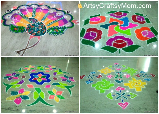 Rangoli-designs for navratri - 21 Navratri Dussehra Activities and Crafts to get your child  sc 1 st  Artsy Craftsy Mom & 21 Navratri Dussehra Activities u0026 Crafts for kids - Artsy Craftsy Mom