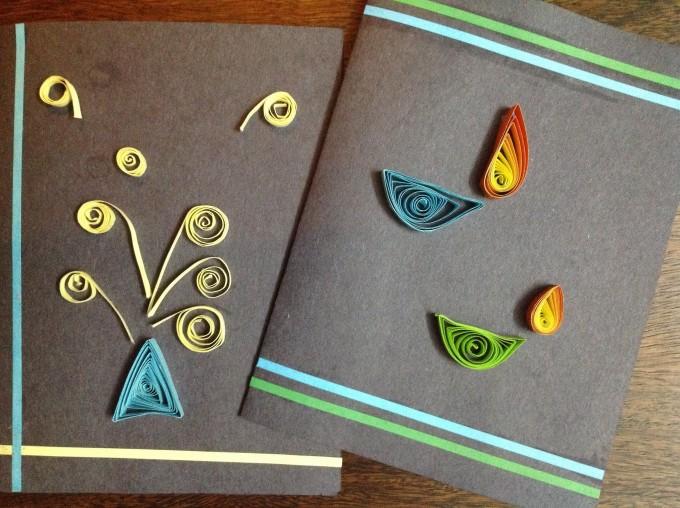 Card Making Ideas For Children Part - 46: Deepavali-handmade-card - Quilled Card For Diwali - 15+ Diwali Card Making