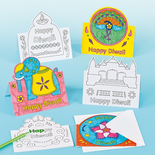 15+ Diwali card making ideas for kids - kandils, lamps, crackers, lanterns. easy to make at Home with kids and makes a great handmade gift