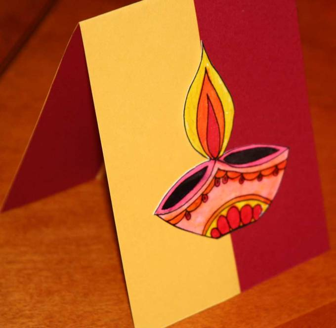 Diwali Fire Cracker Card
