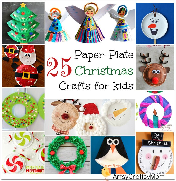 25 easy paper plate christmas crafts for kids artsy craftsy mom