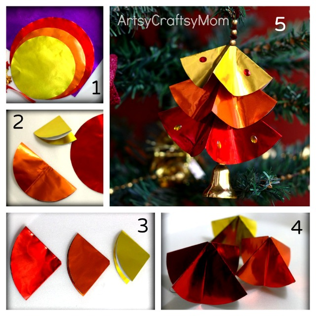 How To Make Christmas Decorations Youtube: DIY Paper Christmas Tree Ornaments