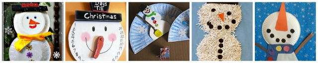 paper plate snowman crafts