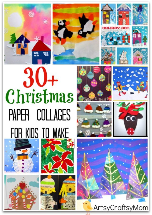 Christmas Paper Collage for kids