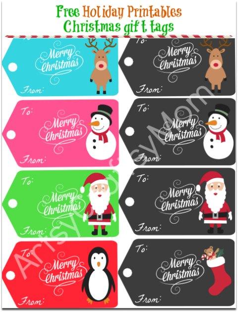 Free Holiday Printables - Christmas gift tags