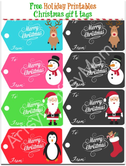 Free Holiday Printables - Christmas gift tags