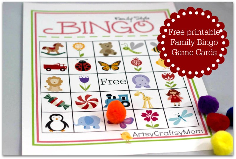 Free Printable Family Bingo Card set1
