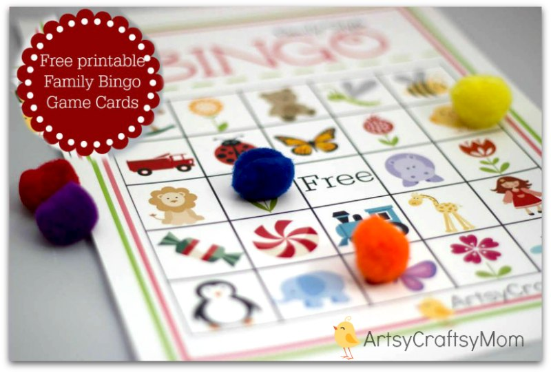 Free Printable Family Bingo Card set2