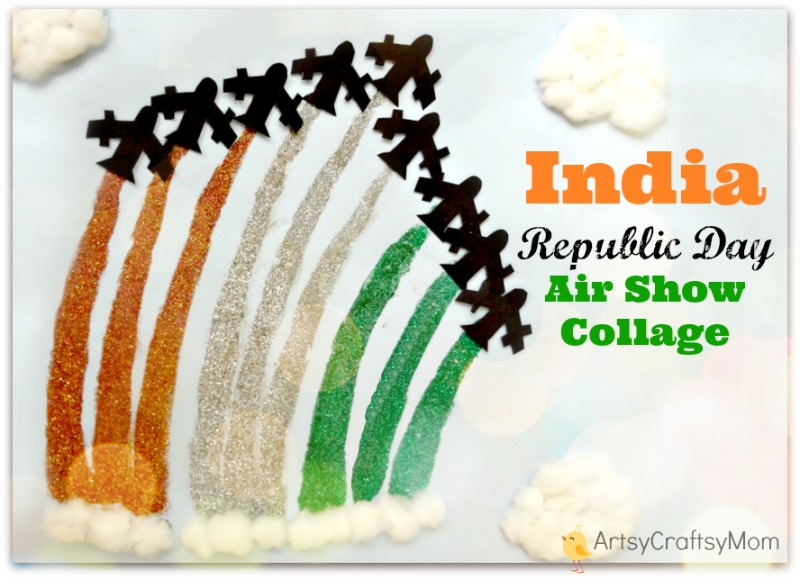 India Republic Day Air Show Collage Craft