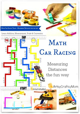 Math Car Racing Track – Measuring Distances the fun way