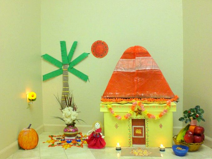 Sankranto Decor - Ultimate guide to Sankranti Customs, Crafts & Recipe Ideas - Makar Sankranti is the Harvest festival of the Hindus. Read about the significance of Makar Sankranti, the traditions and rituals of this festival - Bornahan, Lohri. Find out why it is celebrated? the traditional recipes - Til Gul, Pongal, Kite festival, Kite crafts to keep kids involved and informed in a fun way.