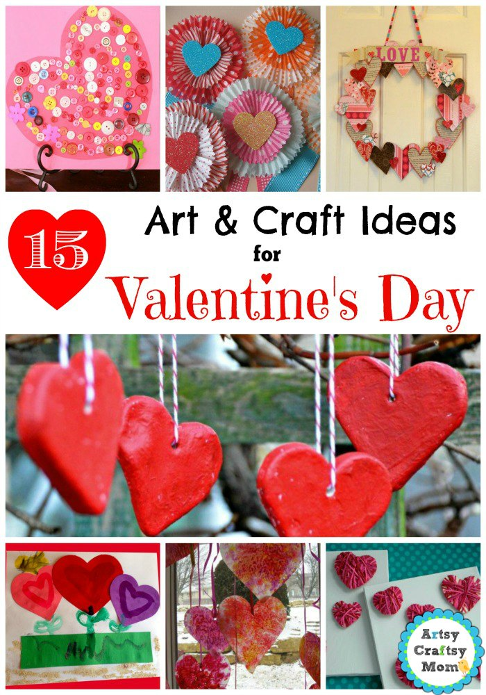 15 Simple Valentine S Day Art And Craft Ideas For Kids Artsy
